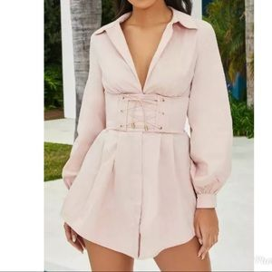 Oh polly OWN IT CORSET SHIRT DRESS Blus Size 8